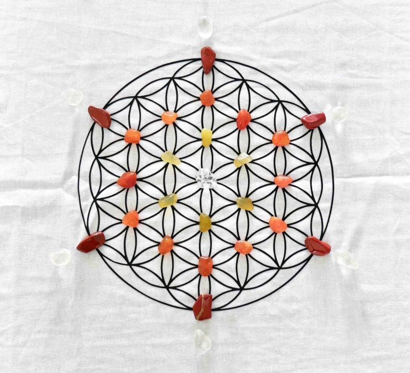 Energy Creativity Crystal Grid Kit for Flower of Life Grid