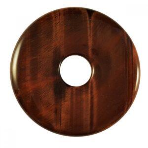 Red Tigers Eye donut torus pendant