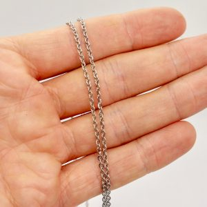 Stainless steel necklace 50cm 1