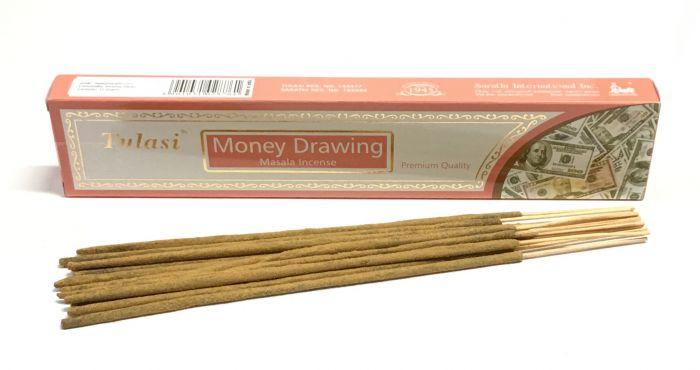 money drawing incense sticks tulasi