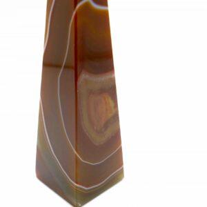 Banded Agate Red Obelisk 263g 17cm 2