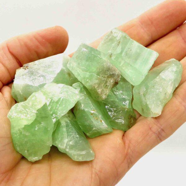 Calcite Green rough pieces 10-20g