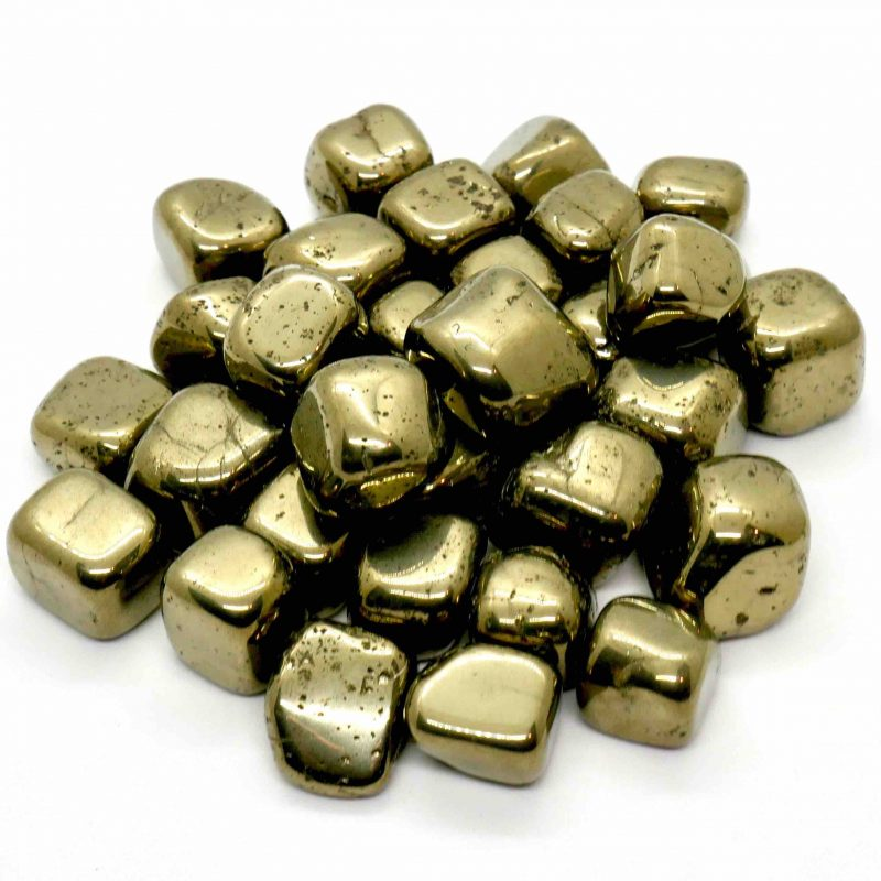 Pyrite Cubes Tumbled Large