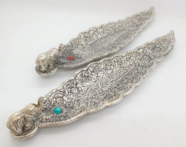 flat metal incense holder elephant 1