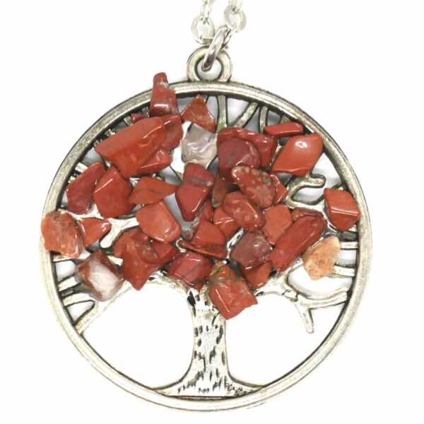 Jasper, Red Tree of Life Necklace 1