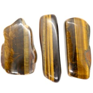 Tiger's Eye, Gold Polished Slices 60-80g 1