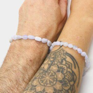 Blue Lace Agate Crystal Healing Bracelet 3