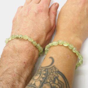 Prehnite Crystal Healing Bracelet A grade 3