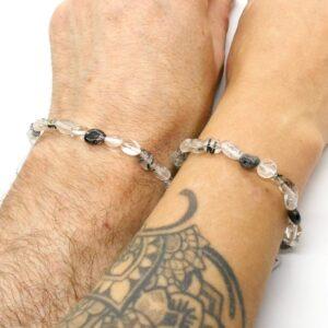 Quartz, Tourmalinated Crystal Healing Bracelet 3