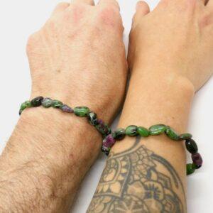 Ruby Zoisite Crystal Healing Bracelet 3