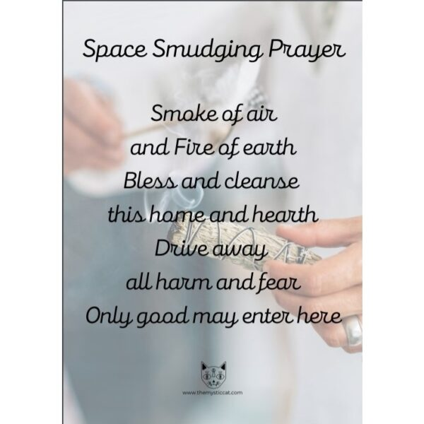 Smudging prayer for people