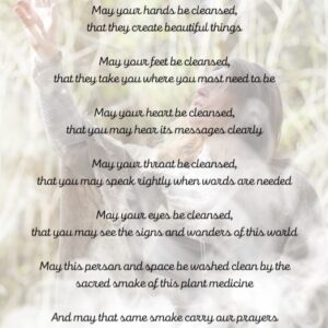 Smudging Prayer for spaces