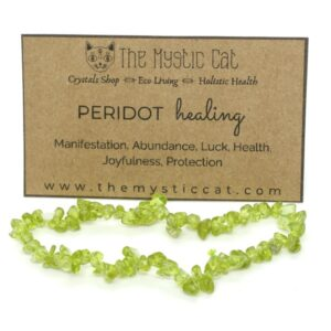 Peridot Crystal Healing Bracelet 1