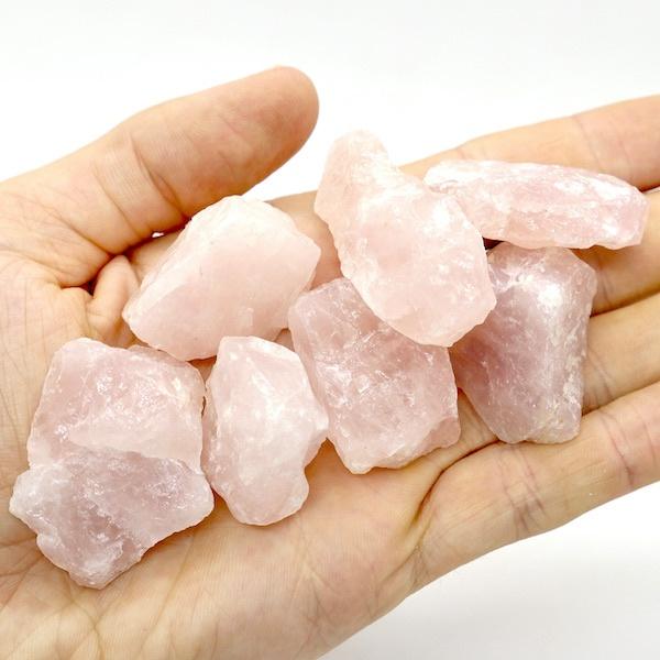 Rose Quartz Rough Pieces 10-20g 3