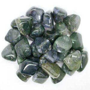 Agate, Green Moss Tumbled L - XL 1