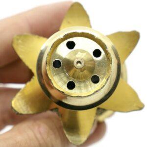 Brass Lotus Incense Holder 2