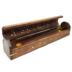 Wooden Box Incense Holder Fillagree 1 IHC2