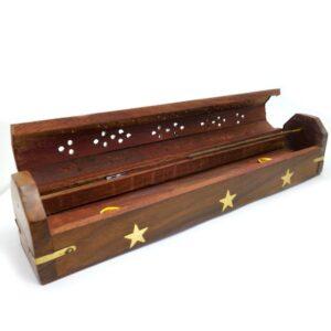 Wooden Box Incense Holder Star 1 IHC3
