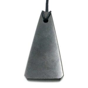 Shungite Pendant Long Triangle 1