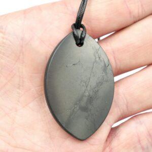 Shungite Pendant Small Oval 3