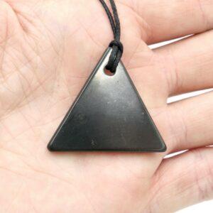 Shungite Pendant Triangle 3