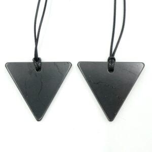 Shungite Pendant Triangle Thick 1
