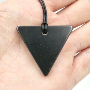 Shungite Pendant Triangle Thick 3