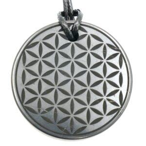 Shungite pendant Flower of Life 1