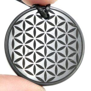 Shungite pendant Flower of Life 2