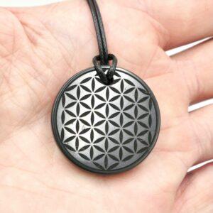Shungite pendant Flower of Life 3