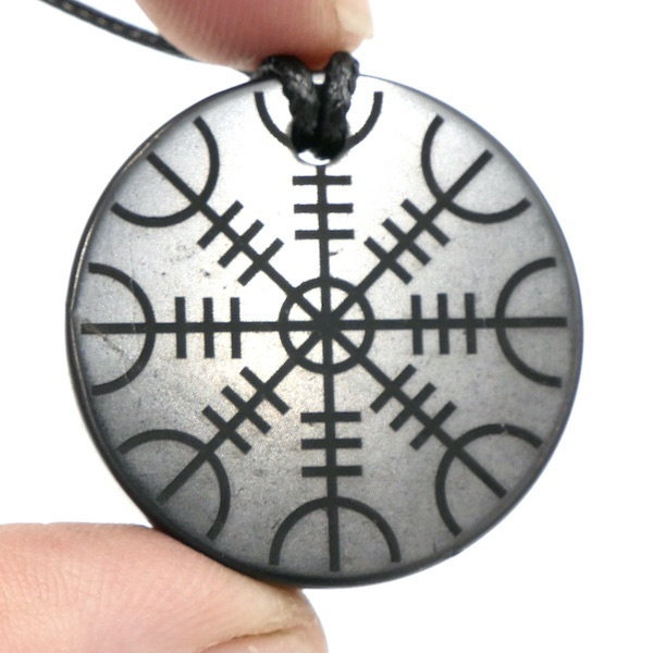 Shungite pendant Helm of Awe 2