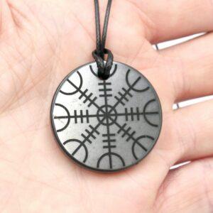 Shungite pendant Helm of Awe 3