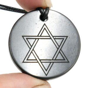 Shungite pendant Star of David 2