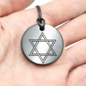 Shungite pendant Star of David 3