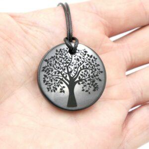 Shungite pendant Tree of Life 3