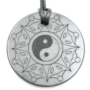 Shungite pendant Yin Yang 1