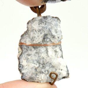 Agate Druzy, Copper Wire Wrap Pendant 2 CCWWDR1