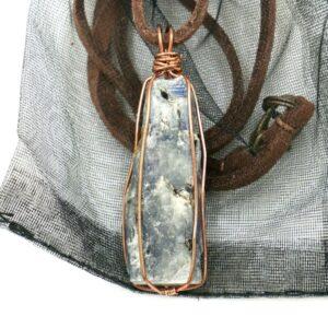 Kyanite, Copper Wire Wrap Pendant 1 CCWWKYN1