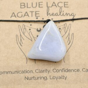 Blue Lace Agate Crystal Healing Necklace 2 HNAB1
