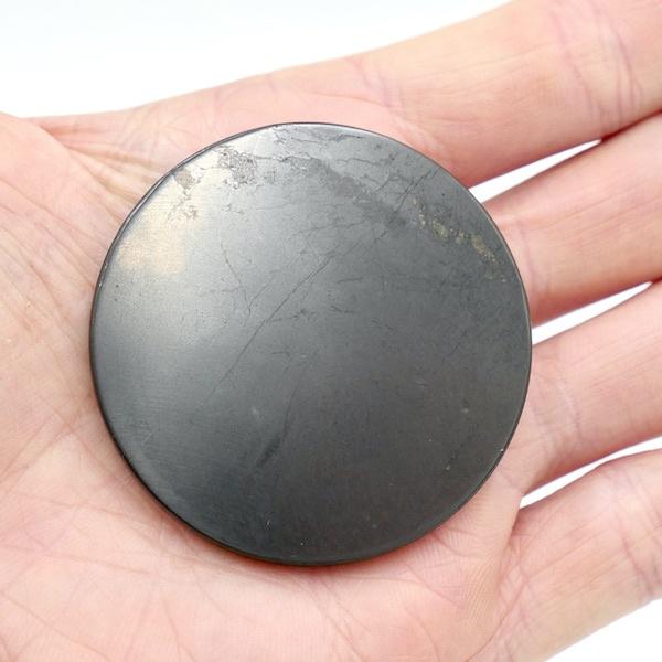 Shungite Round Plate 5cm 3 CP01 11
