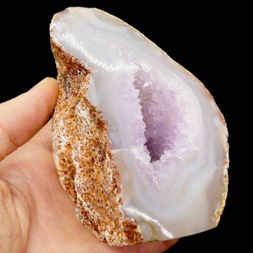 Agate Amyethyst Polished Geode 550g 3