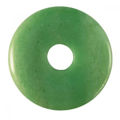 Green Aventurine donut torus pendant