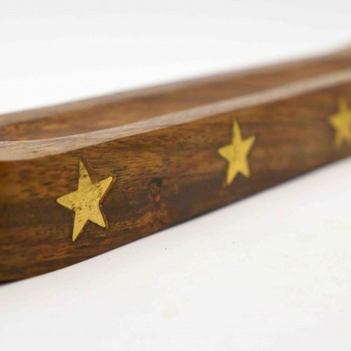 Incense Holder, Stars Wood 2