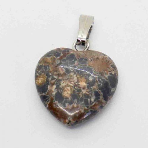 Jasper, Leopard Skin Heart XS Pendant 1