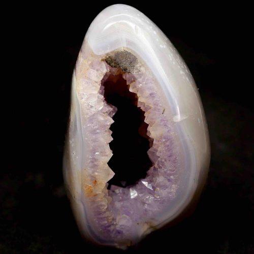 Lavender Amethyst Geode Egg 144g 8.5cm 1