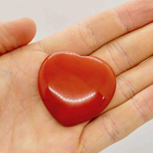 Red Jasper Polished Puffy Heart 3