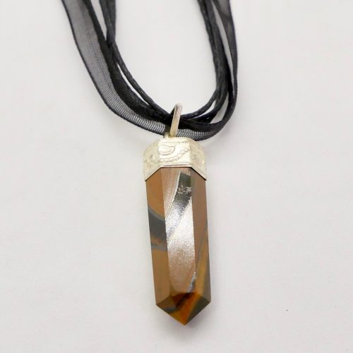 Tiger's Eye Point Necklace 1