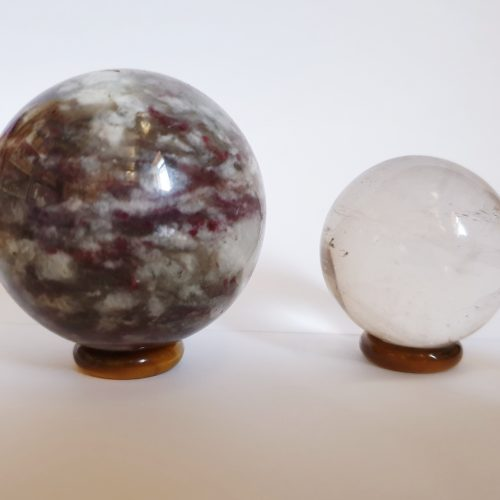 Tigers Eye Ring Sphere Stand